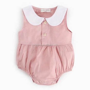 Cute Baby Pink Romper Soft Cotton Romper Baby Romper Wholesale Baby Clothes