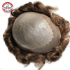 Top Quality Popular Base Design Mens Toupees For Sale, Super Thin Skin With Lace In Front Toupee