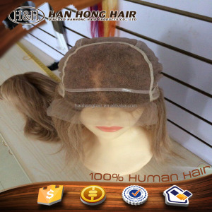 Top quality cheap full lace wig idnian hair vertex color #18/20 full hand tied mono cap costomized