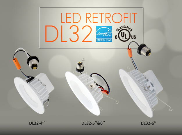Up-dl36-25w 8inch Led Cob Downlight,Ul Es Certificated,Up-shine ...