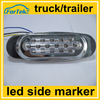 white/amber/red led side marker clearence lamp for trucks bus, trailer