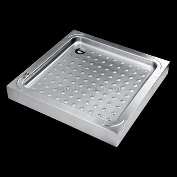 Stainless Steel Enameled Shower Tray