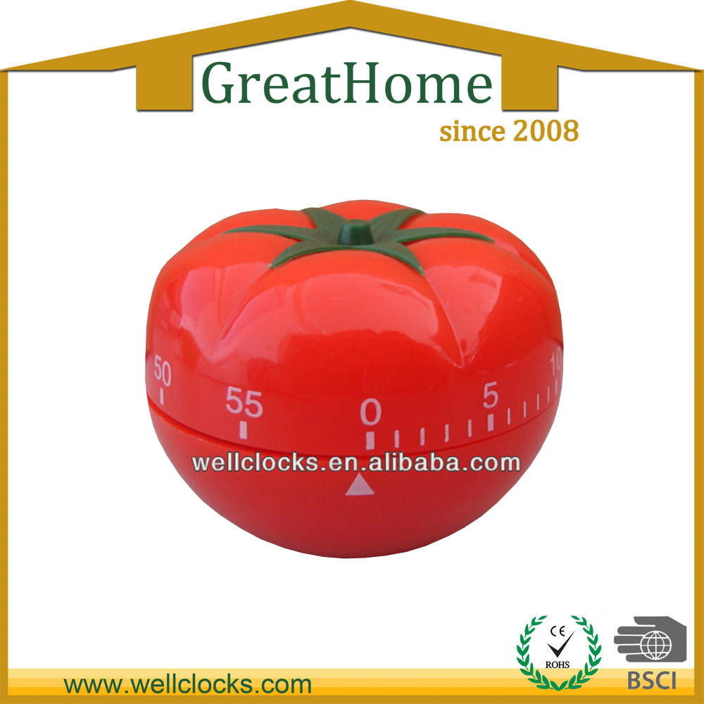 Vegetables shaped mechanical kitchen timer for promotion
