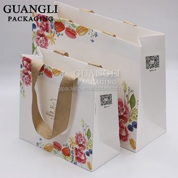Elegant Custom Logo Jewelry Gift Packaging Bag Shopping Bags with Handle