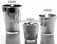 Glass Mercury Ice Bucket
