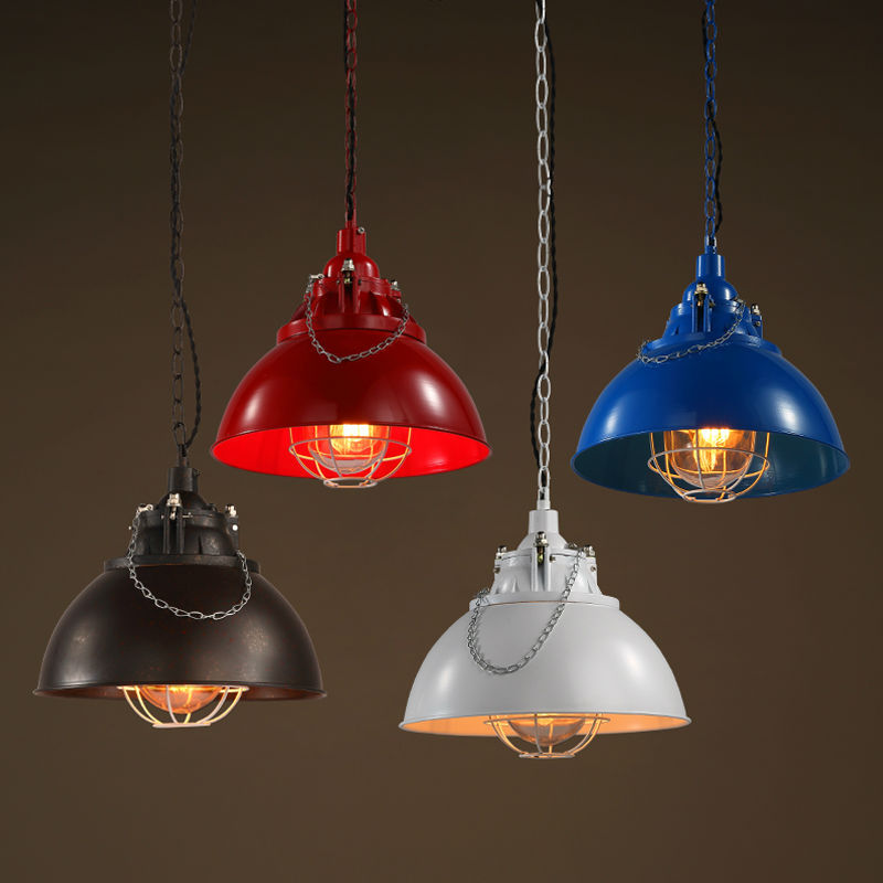 Most popular in USA metal industrial pendant lamp maroon UL approval
