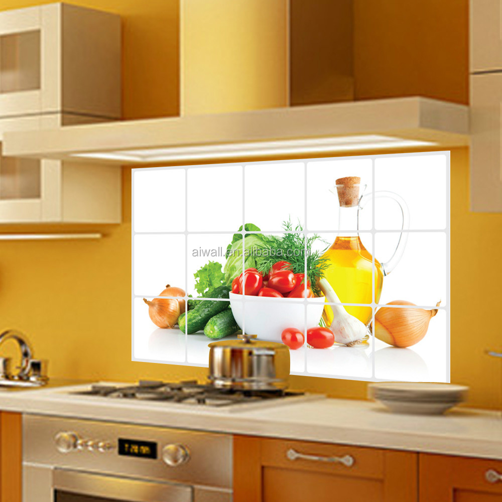 3018 Fruits And Vegetables Anti Oil Sticker Wall Flower Tiles