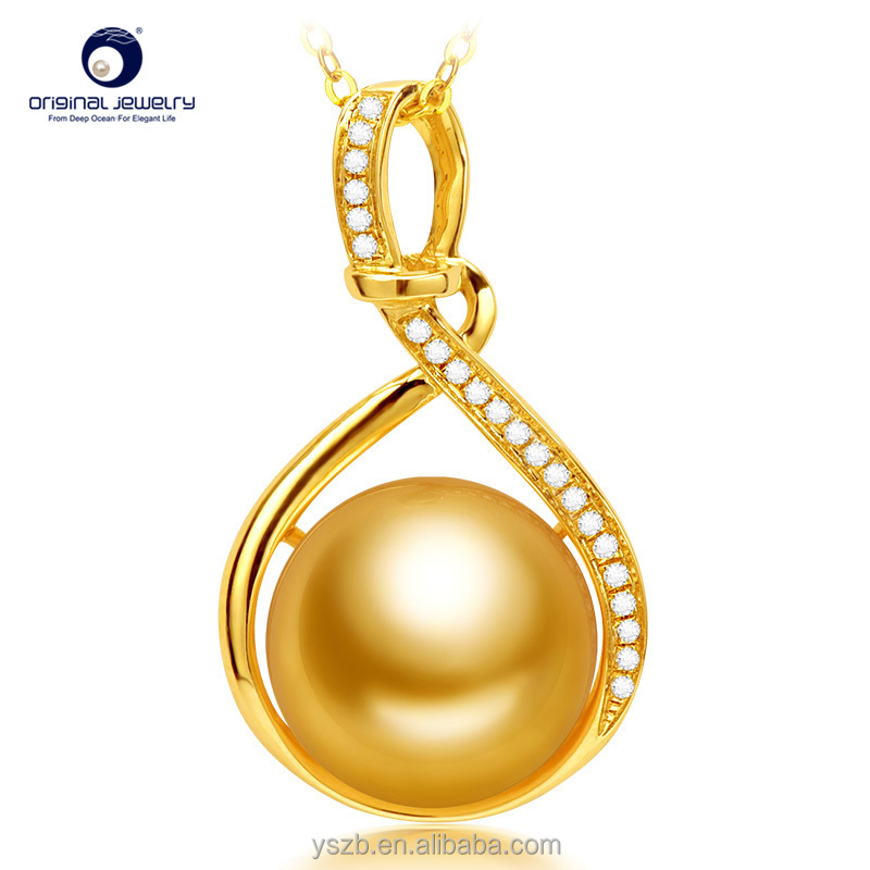 [YS] Wholesale south sea pearl pendant necklace genuine pearls