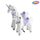 unicorn horse pedal pony riding plush toys stuffed animals on wheels