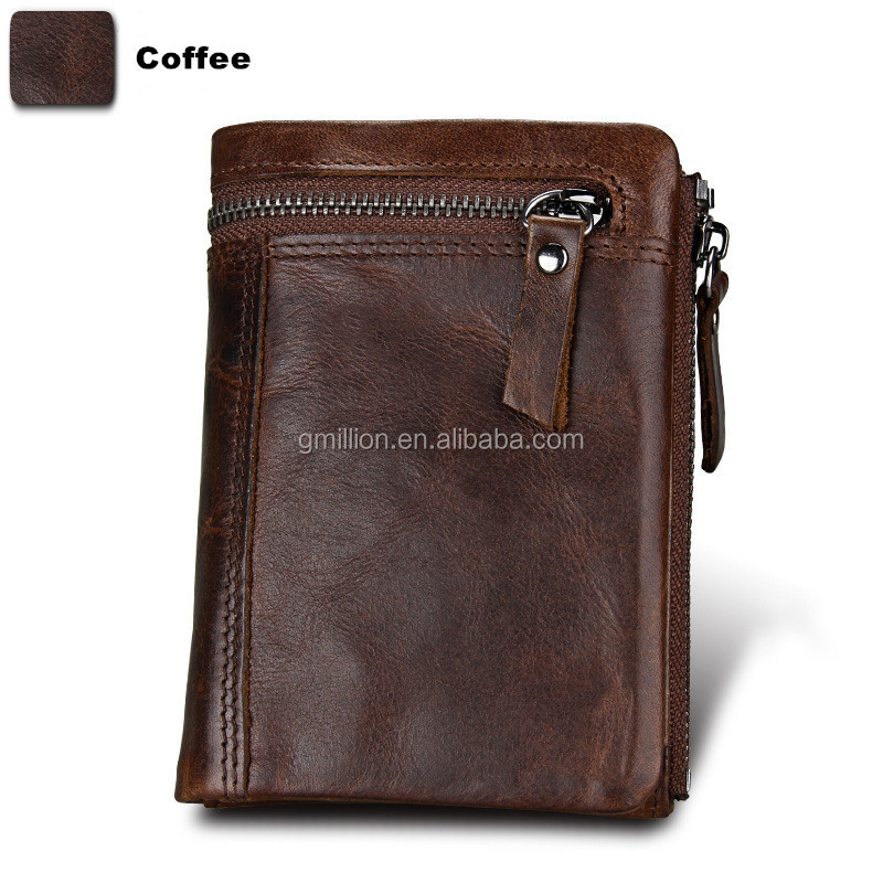 China Manufacturer Produce RFID Blocking Leather Wallet For Men No Logo Slim Man Wallet Leather Card Wallets Leather Cash Purse
