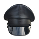 custom black PU leather military peaked cap pilot captain caps captains hats uniform officer hat