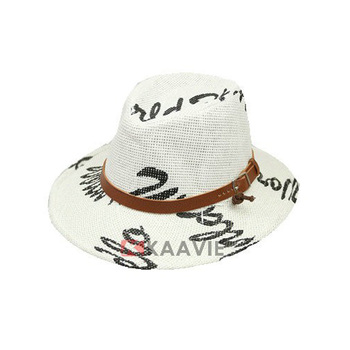 Custom Kids Girl Boy Cool Rock Fashion Printed Straw Fedora Hat ... 06159d80e221