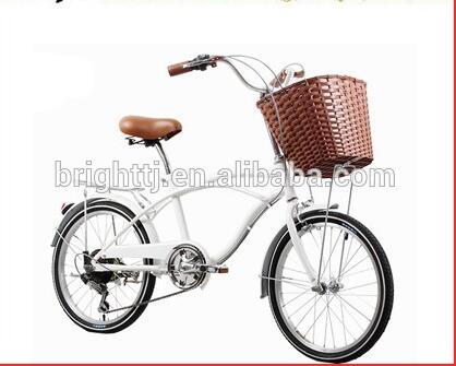 Tianjin Best popular high quality 6 Speed Steel Beach Cruiser Bike 20 Inch for Lady