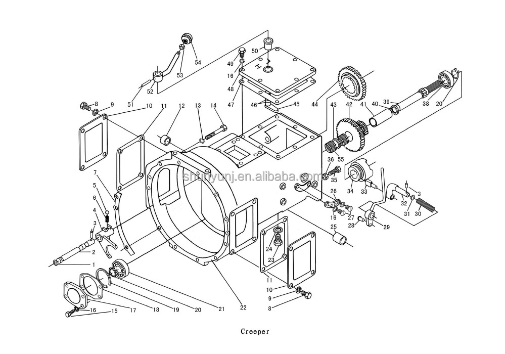 tractor gearbox assembly parts for foton jinma dongfeng