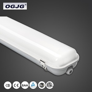 Dimming Tri Proof Luminaire double tube hardwired vapor proof batten light fixture industrial high bay ip65 linear led light