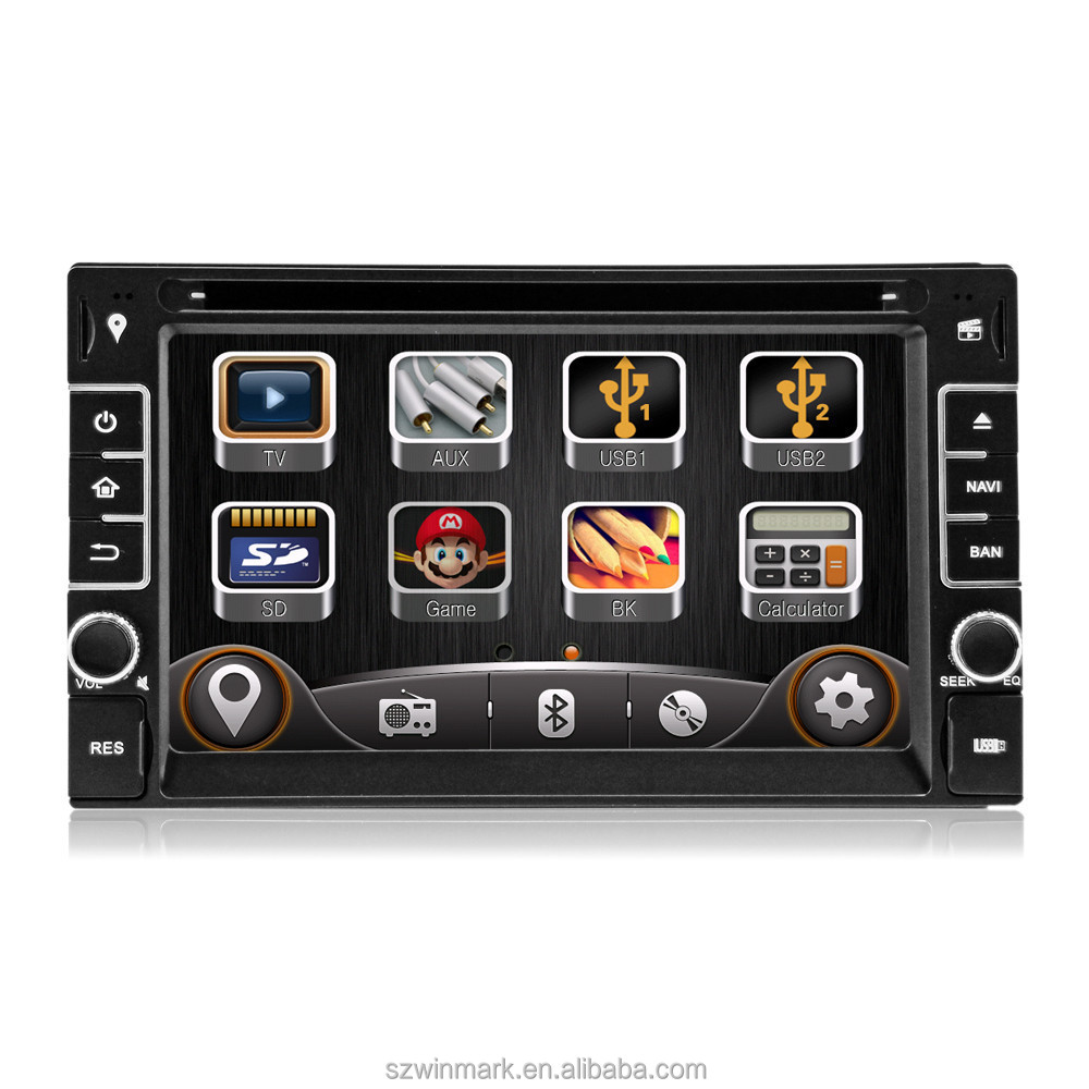 "DK6533-A 6.2"" two din HD digital monitor universal car dvd player car radio with GPS external <strong>TV</strong> etc.features"