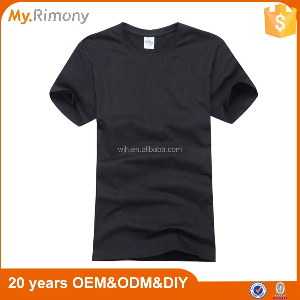 Cheap promotional custom t shirt 100% cotton 200gsm