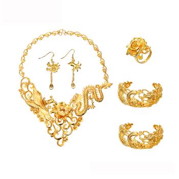 076153fd1 201804 xuping jewelry manufacturer china 24k gold plated women bridal  luxury Wedding jewelry set