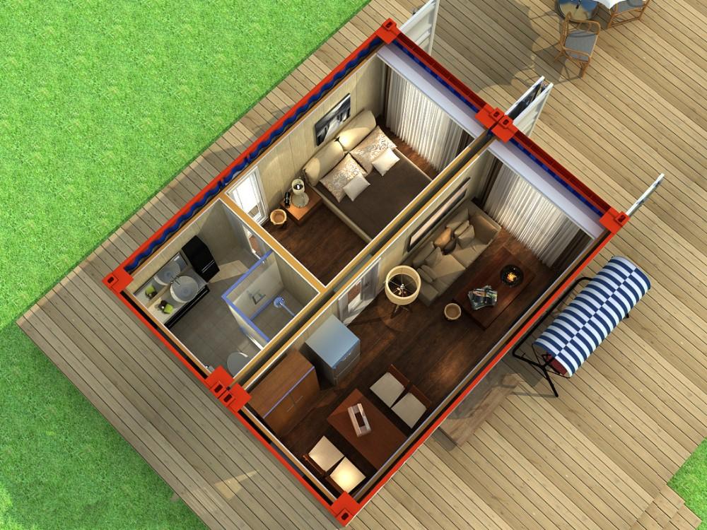 Prefabricada casa contenedor de transporte para la venta - Contenedor vivienda precio ...