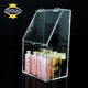 JINBAO Clear Acrylic Eyeshadow Lipsticks Holder Makeup Brush Organizer Cosmetic Tools Storage Box Case