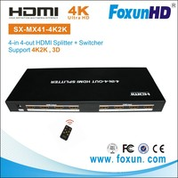 SX-MX41-4K2K 4 port hdmi splitter switch With Infrared Remote Controller