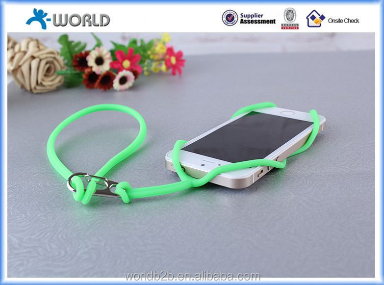 Cheap silicone case with lanyard smart strap for smart phones
