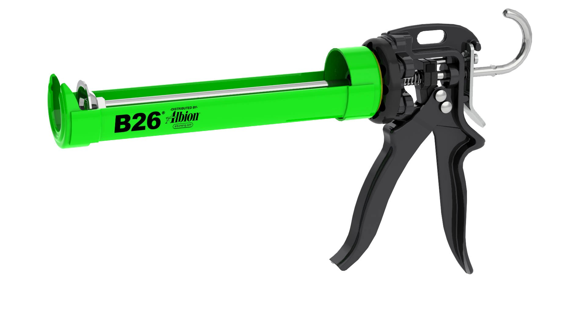 Albion Engineering B26 B-Line Manual Cartridge Caulking Gun, 1/10 Gallon (10 oz), 26:1 Drive