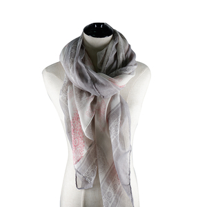 100 Polyester Woven Scarf for Women High Quality Cheap Printed Thin Shawl