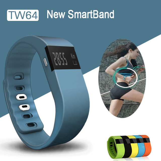 Smart band Fitness Tracker <strong>Bluetooth</strong> 4.0 Wristband Smart Pedometer Bracelet For iOS Android Smart band TW64 PK Fitbit Mi band