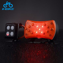 INBIKE High Quality Usb Charge Tail Bike Turn Signal Brake Rear Light