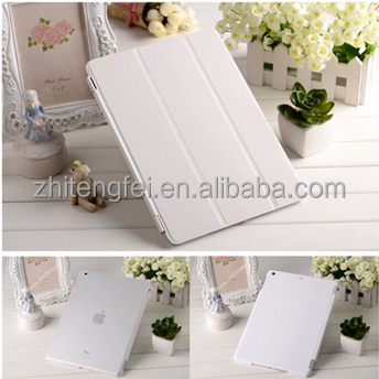 Half white magnet cover case for ipad mini/air/2/3/4