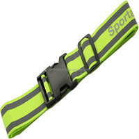 High Visibility yellow polyester elastic running belt waist for night safety