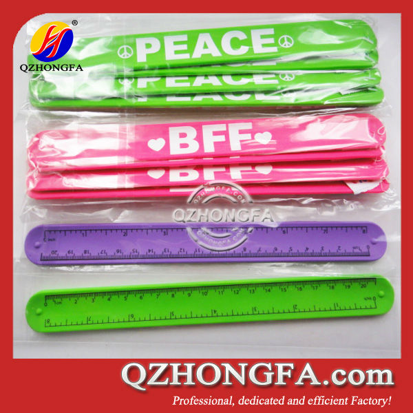 Silicone Rubber Slap Wrist Band Ruler