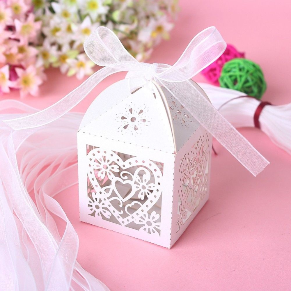 Aliexpress.com : Buy Love Heart Laser Cut Candy Gift Boxes