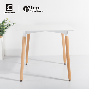 Best price modern design mdf home kitchen office white coffee wood dining table