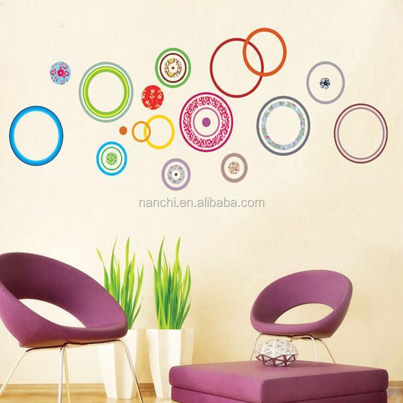 Venta al por mayor decoracion con circulos en sala compre for Stickers per muri