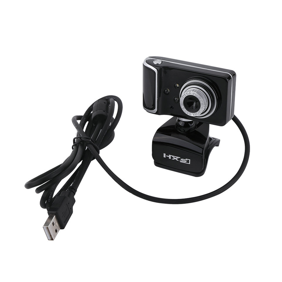 16M Pixel HD Webcam Clip-on 3 LED Rotatable Web Camera For Computer Black Red