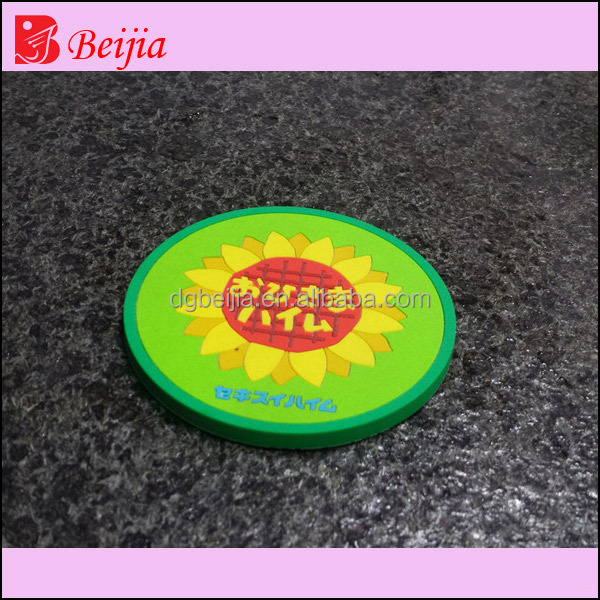 Logo printed custom pvc coaster, printabale custom round absorbent cup mat, cheap
