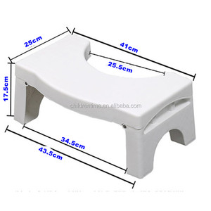 Foldable Bathroom Toilet Stool, adjustable Squatting Stool for Kids and Adult, Fits all toilets