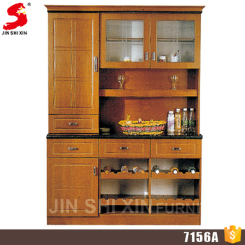 Accept Oem Kitchen Storage Cabinet Wooden Cupboard With Showcase