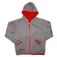 Bonded Jersey To Polar Fleece Two-Side Wear Hoodie (DSC01233)