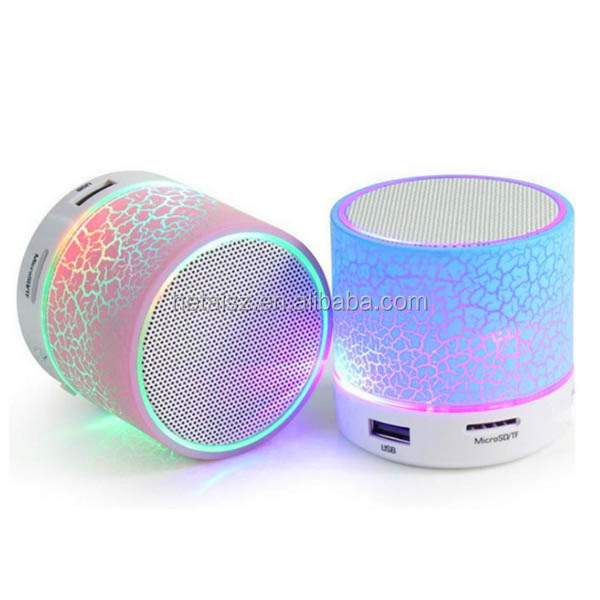 portable wireless speaker with FM radio colorful light active speaker