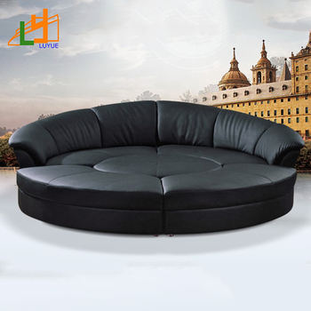 High-end Design New Style Living Room Furniture Couch Luxury Leather  Sectional Round Sofa - Buy Sofa,Luxury Sofa Sets,Leather Sectional Sofa  Product ...