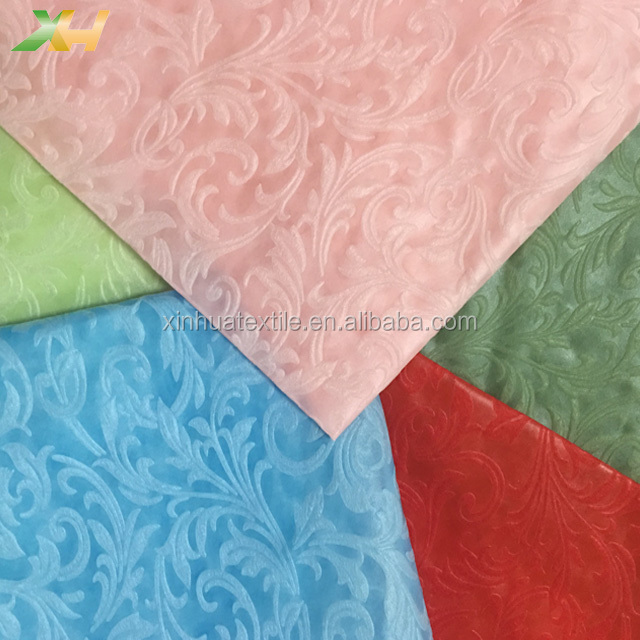 Stone or Square Emboss PP Spunbond Non Woven Nonwoven Fabric Raw Material for Non-woven Tablecloth