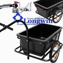 Bike Trailer - Coupling & Penumatic Tires Cargo Luggage Bicycle Handle Drawbar