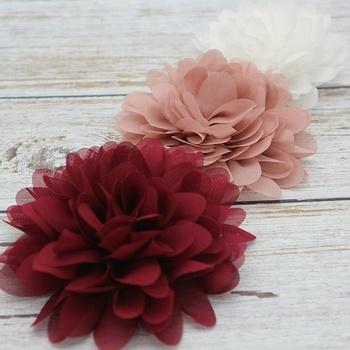 2018 burgundywhitedirty pink chiffon fabric flowersdiy handmade 2018 burgundywhitedirty pink chiffon fabric flowersdiy handmade chiffon flower mightylinksfo