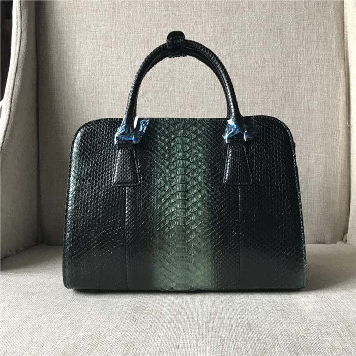 Hot sales exotic leather lady handbag luxury genuine python skin bag