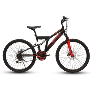 26 - inch K - shaped fly - shock suspension is all mounted on mountain bikes.