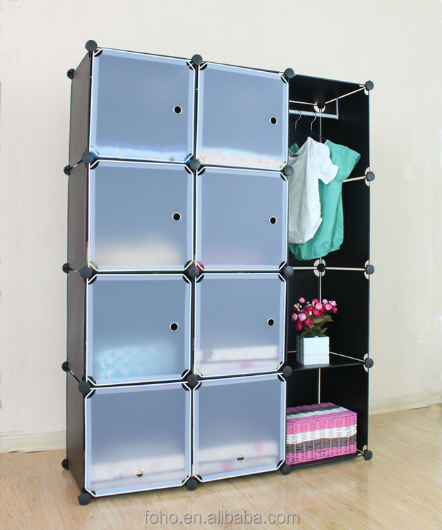 Adaptable Cube Diy Storage Wardrobe Cabinet Kids Toy Storage Shelf 8