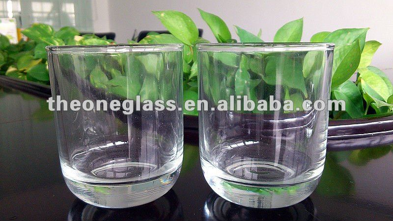 195ml/295ml/350ml high white glass beer/drinking cup